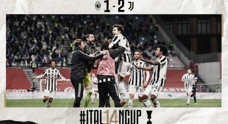 Juventus, com público nas arquibancadas, o 14º título na Copa Itália
