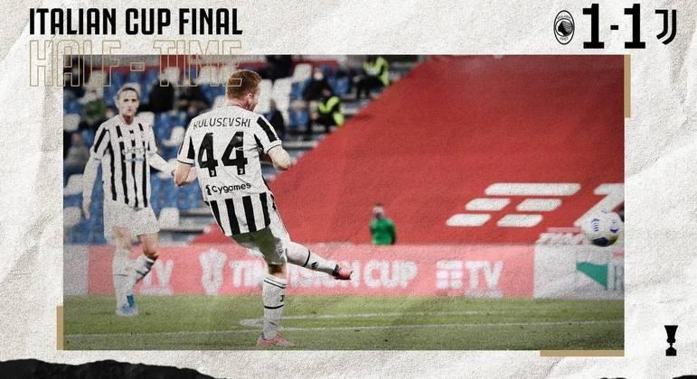 Detalhe do gol de Kulusevski, Juventus 1 X 0