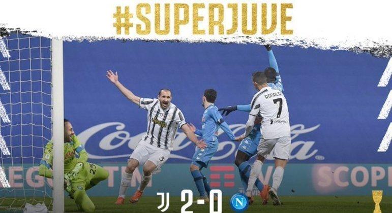 Depois dos 2 X 0, gol de Morata, a comemoração da Juve