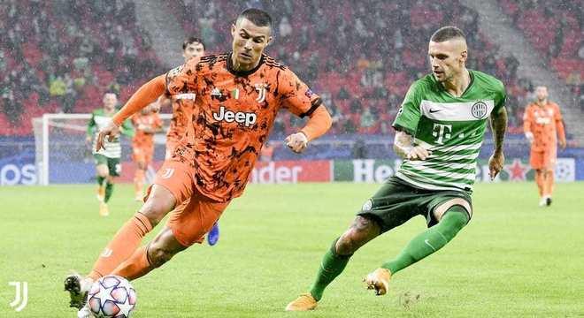 O CR7 em Ferencvarós 1 X 4 Juventus
