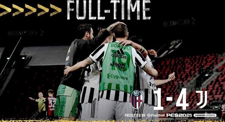 """Juventus, no encerramento do combate a celebração da vaga na """"Champions"""""""