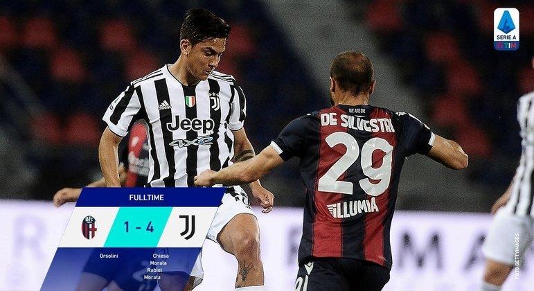 Juventus, um passeio no gramado do Dall'Ara do Bologna