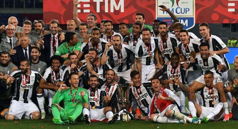 A Juve de 2018/2019, a líder em títulos da Copa Itáli