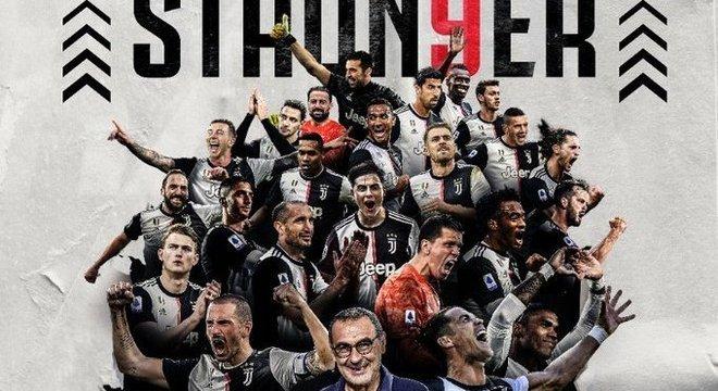 A capa celebrativa do Twitter da Juventus