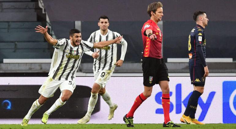 A alegria de Hamza Rafia, o salvador da Juve contra o Genoa