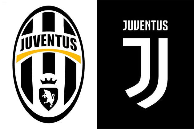 Juventus - O novo escudo da Juventus é composto por duas grafias da letra