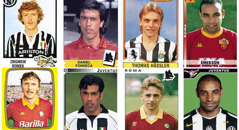 Craques que, no passado, atuaram pela Juventus e pela Roma
