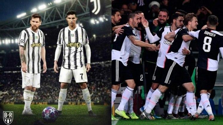 Juventus - Szczęsny, Cuadrado, De Ligt, Bonucci, Alex Sandro, Arthur, Bentancur, Bernardeschi; Dybala, Messi e Cristiano Ronaldo. Técnico: Andrea Pirlo.