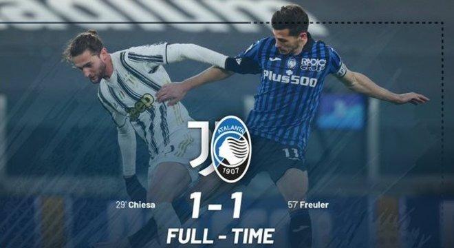 No Allianz Stadium de Turim, um empate inútil para os dois rivais