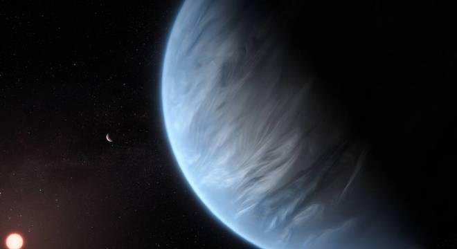 Até 50% da atmosfera do planeta K2-18b pode ser composta por água