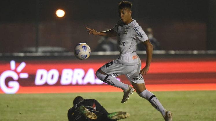 Kaio Jorge (19 anos) - Clube: Santos - Posição: atacante - Valor de mercado: 12 milhões de euros.