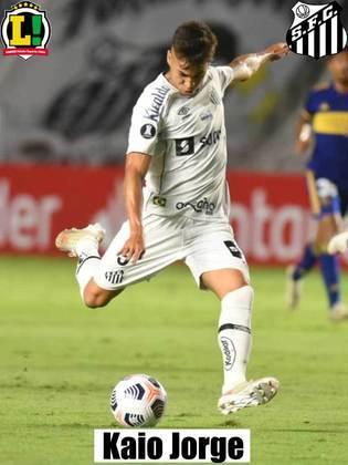 Kaio Jorge - 7: A luta de sempre. Evolui a cada partida e, agora, tem faro de gol.