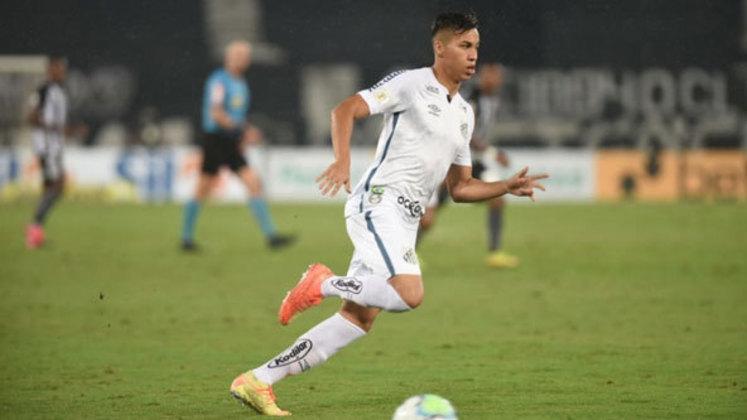 Kaio Jorge abre a lista. O atacante do Santos tem apenas 18 anos e está avaliado em 12 milhões de euros (cerca de R$ 77,28 milhões).