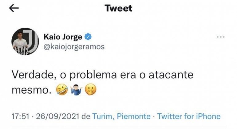Kaio Jorge ironizou o Santos em publicação, mas depois apagou