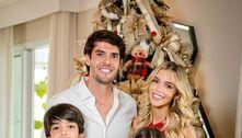 Mulher de Kaká não posta fotos dos enteados por pedido da ex dele