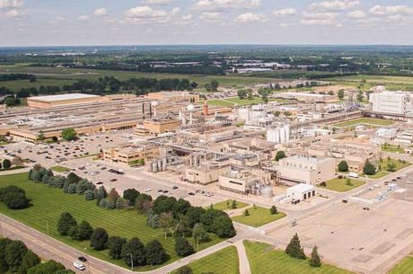 Complexo da Pfizer em Kalamazoo, no Michigan (EUA)