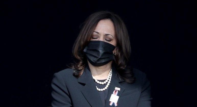 Kamala Harris em cerimônia em homenagem às vítimas do 11 de setembro na Pensilvânia