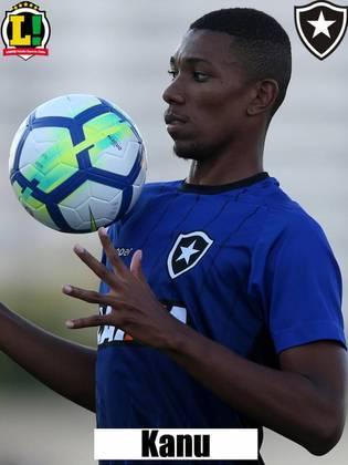 KANU - 6,5 - Seguro, o zagueiro liderou a defesa do Botafogo com bons desarmes e antecipações. Mostrou qualidade no passe para sair jogando com os homens de meio-campo.