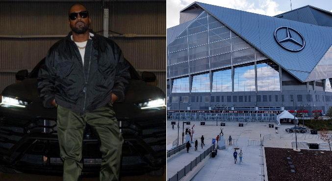 Estádio de evento de Kanye West virou também ponto de vacinação