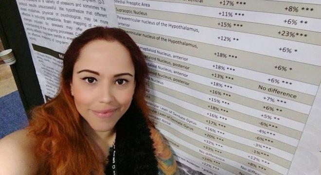 Karen Carvalho, doutora em neurociências, hoje trabalha como corretora de imóveis