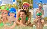 Karina Bacchi e a família estão curtindo as férias em um resort de luxuoso no México. A famosa vem compartilhando imagens ao lado do marido, o ex-jogador Amaury Nunes, e do filho, Enrico, em cenários de tirar o fôlego. Confira o álbum da família!