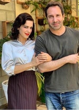 Karina Barum e o diretor Beto Ribeiro