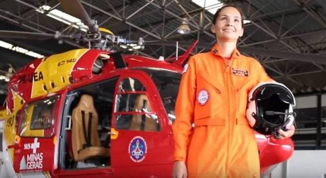 A comandante Karla Lessa, responsável pelo salvamento em Brumadinho