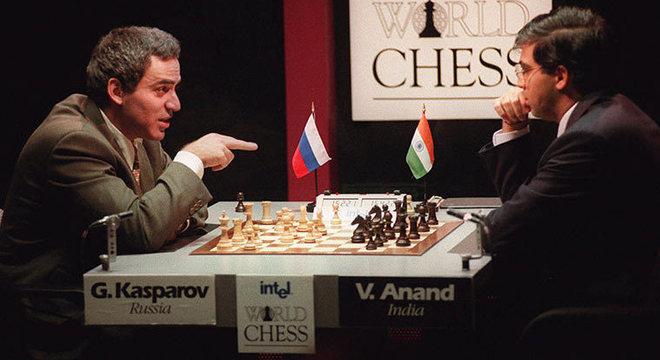 Kasparov X Anand, na disputa pelo título mundial de 1995