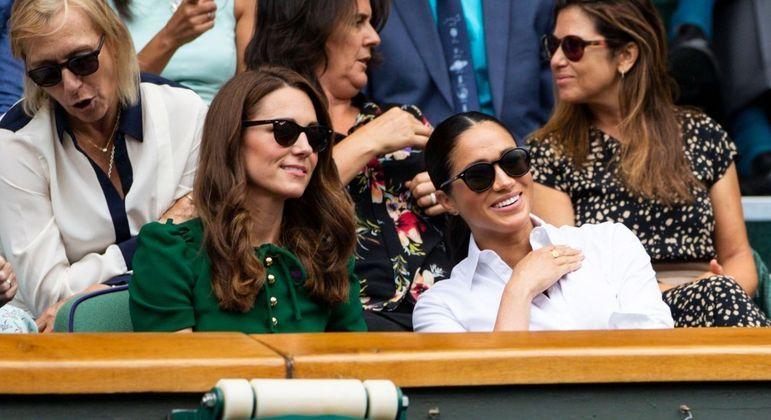 Kate Middleton e Meghan Markle em 2019