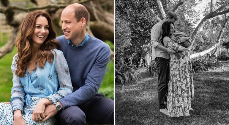 Príncipe William e Kate parabenizam Harry e Meghan por nascimento de filha