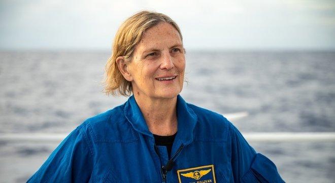 Kathy Sullivan se tornou a oitava pessoa e a primeira mulher a chegar às profundezas do Challenger Deep
