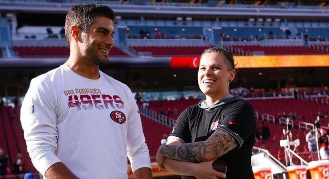 Garoppolo, principal jogador dos 49ers, rasgou elogios ao trabalho de Katie