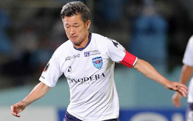 Kazuyoshi Miura - Jogador mais velho em atividade, Kazu foi eleito melhor jogador do Campeonato Japonês em 1993. Vale apontar que a carreira dele começou no Santos, tornando-se o primeiro japonês a jogar e marcar no futebol brasileiro.