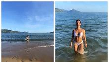 Kelly Key celebra aniversário com banho de mar: 'Motor 3.8'