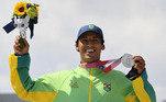 Kelvin Hofler conquista a prata no skate, primeira medalha do Brasil em Tóquio 2020