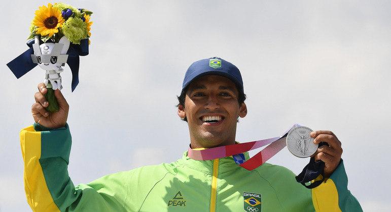 Kelvin Hoefler chegou a liderar a competição nos Jogos Olímpicos Tóquio 2020