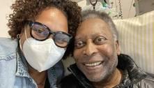 Filha posta foto com Pelé: 'Hoje deu dois passos para frente'