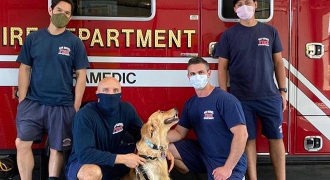 Kerith ajuda e acalma os bombeiros