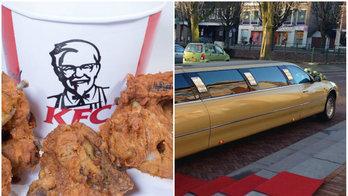 Estudante de terno finge ser chefe e come de graça um ano em fast food (Montagem/R7)