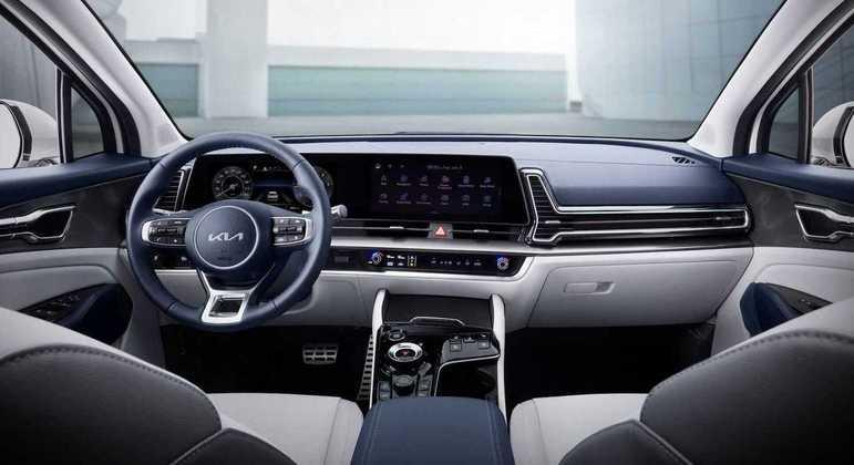 Neste grande display o motorista tem acesso ao painel de instrumentos e a central multimídia