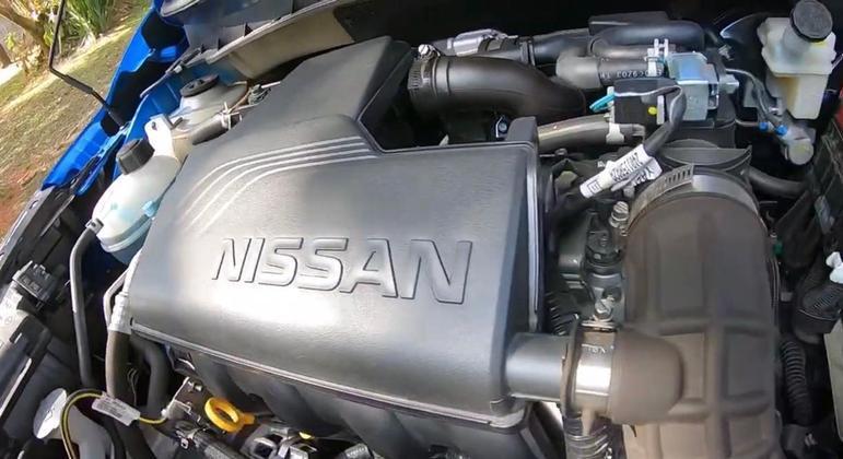 Nissan Kicks tem motor 1.6 aspirado de 114cv