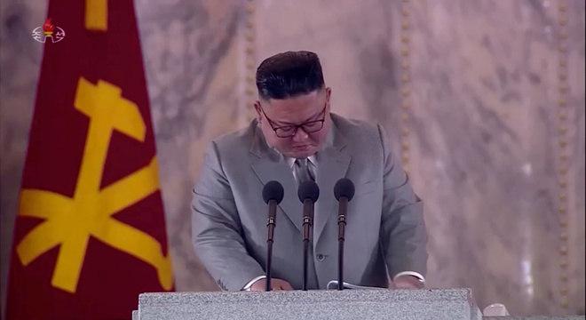 Kim Jong Un chorou durante seu discurso no 75º aniversário do partido