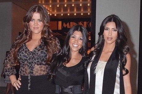 Khloé, Kourtney e Kim Kardashian no passado...