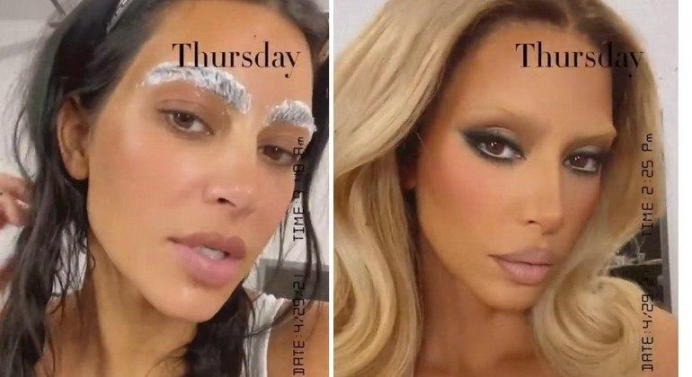 Kim Kardashian fez mudança radical - e temporária - em seu visual