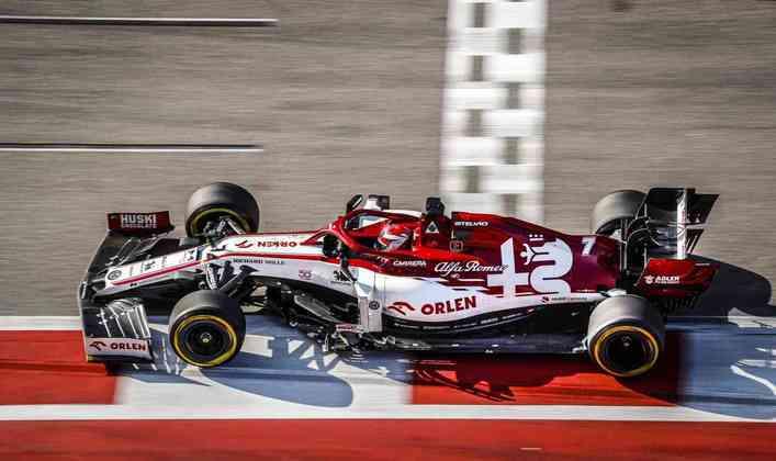 Kimi Räikkönen em ação no GP da Rússia