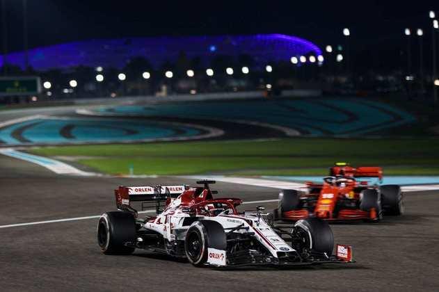 Kimi Räikkönen, o 12º colocado.