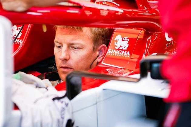 Kimi Räikkönen voltou a ficar na frente do companheiro: é 16º (Foto: Alfa Romeo)
