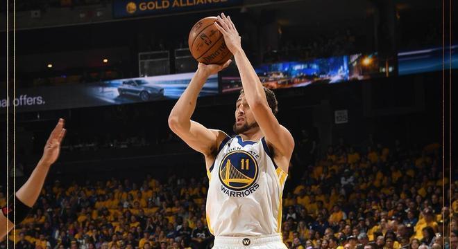 Klay Thompson, 26 dos 116 pontos dos Warriors