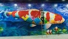 SP: Eduardo Kobra assina mural em homenagem à imigração japonesa