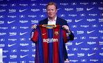 Esperança emRonald KoemanContratado para ser o novo técnico do Barcelona, Koeman mostra ter vontade de fazer uma renovação na equipe catalã. Com isso, Messi pode auxiliar no pedido de novos jogadores e assim criar uma equipe ao gosto do camisa 10, que terá um elenco competitivo e forte